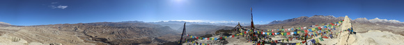 Panorama view of Lo Manthang