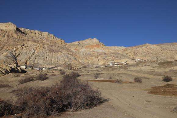 The town of Ghara in Upper Mustangs Eastern Side
