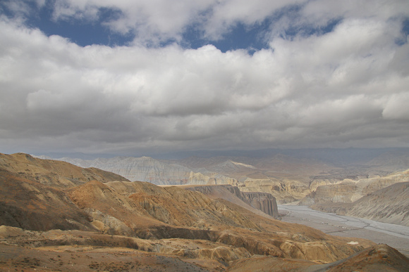 Top of the mountain in Eastern Upper Mustang