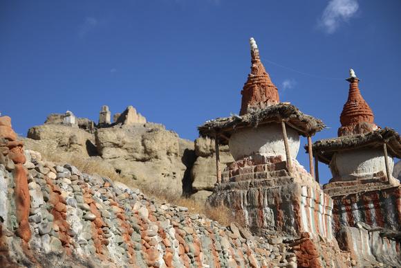 Tange's chortens and monastery