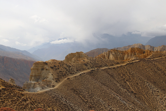 Golden Gale Ridge in Eastern Upper Mustang