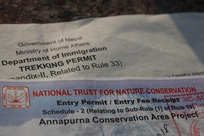 ACAP (Annapurna Conservation Area Project Permit)