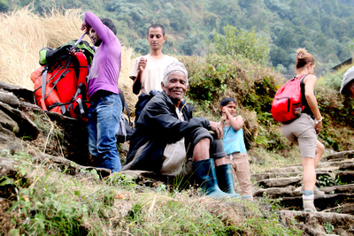 Trekking guides and porters