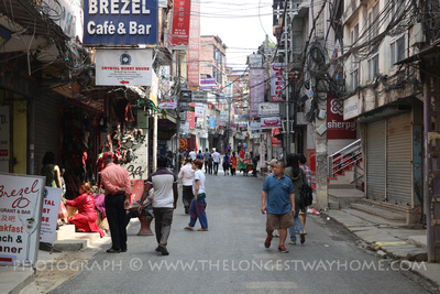 Chaksibari Road in Thamel is meant to be traffic free