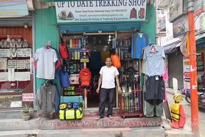 Local trekking goods store in Thamel