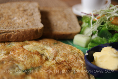 Mushroom omelette breakfast in Kathmandu