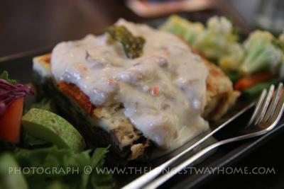 Vegetarian lasagna in Kathmandu