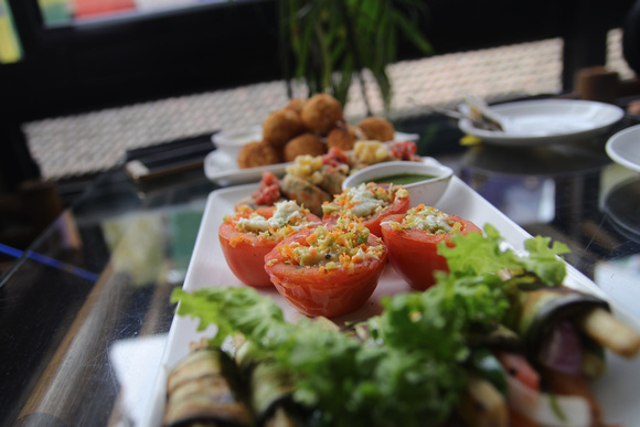 Vegetable platter from Forest and Plate Restaurant