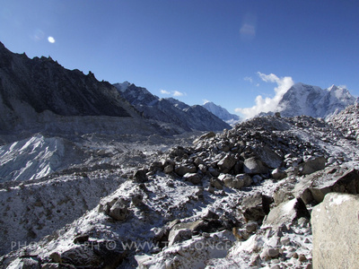 The Khumbu Glacier by Everest Base Camp