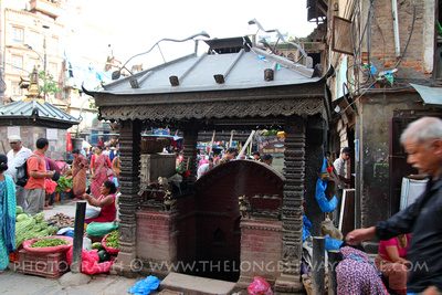 Kumari Bhairab shrine in Ason Chowk