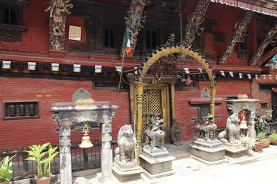 Main shrine gates of Itum Baha in Itum Bahal