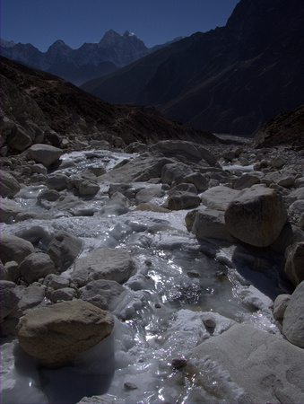 Icy stream in Nepal