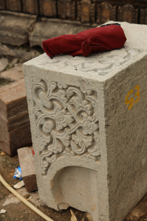 Intricate stone artistry shown in Patan