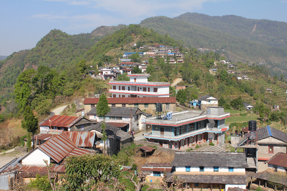 A mix of Nepali teahouses, trekking lodges and hotels