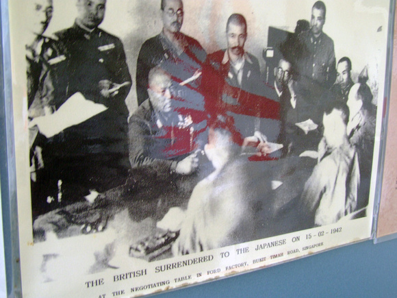 Photograph of the British surrendering Penang to the Japanese