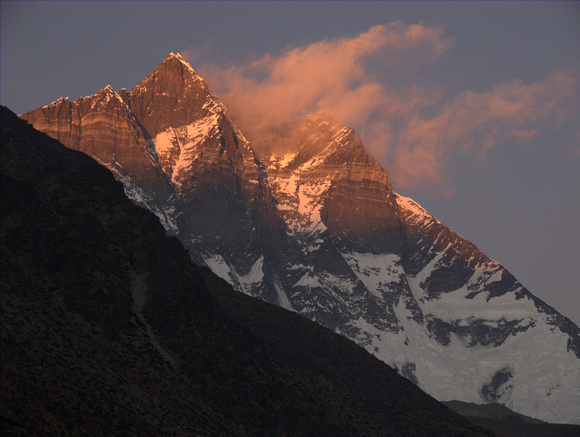 Red Sunset on the Himalayas