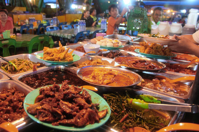 Food from Sabah Malaysia Night Markets