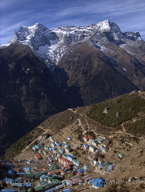 Namche Bazaar before the earthquake