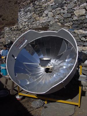 Solar water heater in Nepal