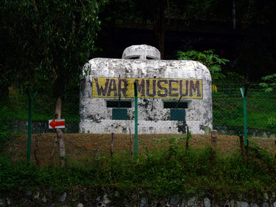 Entrance to the Open Air War Museum in Penang, Malaysia