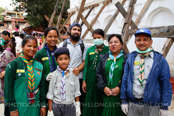 Scouts of Nepal at Gai Jatra