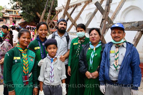 Scouts of Nepal at Gai Jatra