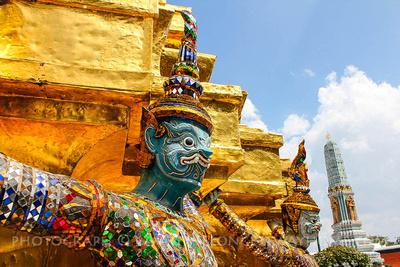 Emerald Buddha statue in Wat Phra Kaew, Bangkok, Thailand