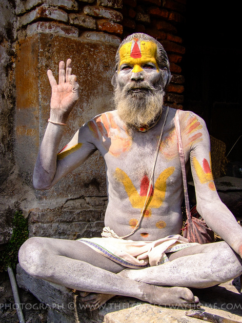 Sadhu's are peaceful and do not have any possessions