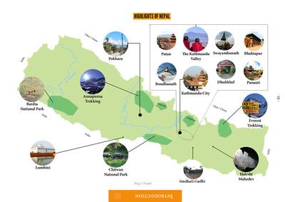 Tourisim map of Nepal