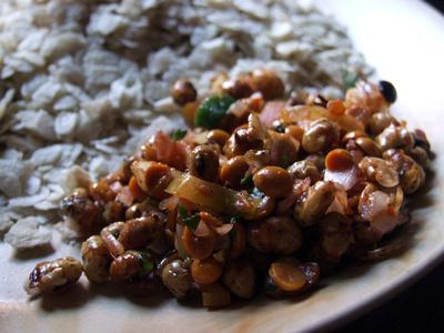 Bhatmas - roasted chickpeas in chili - traditional Newari food