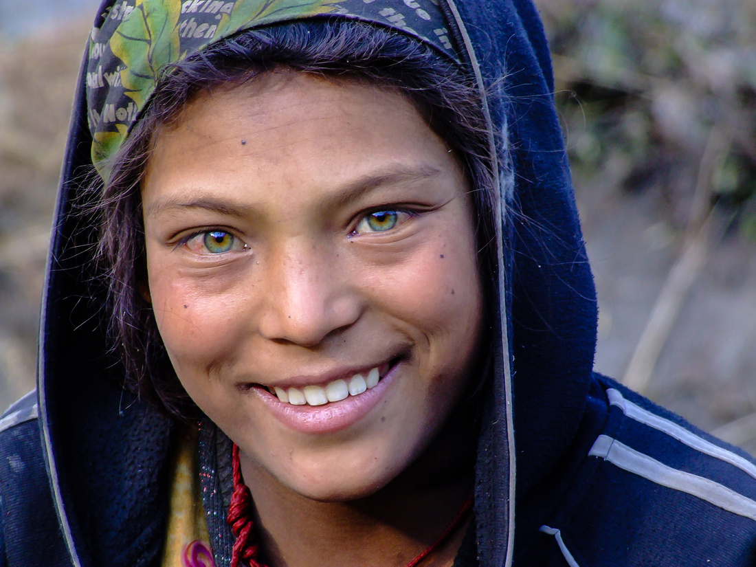 Green eyed girl from Nepal