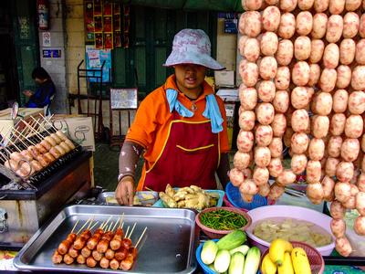 Thailand streek food stall