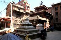 Vishnu's courtyard in Thimi