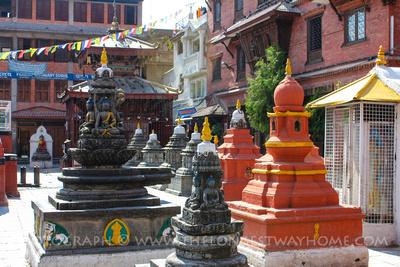Chaitya in the Kathesimbhu courtyard
