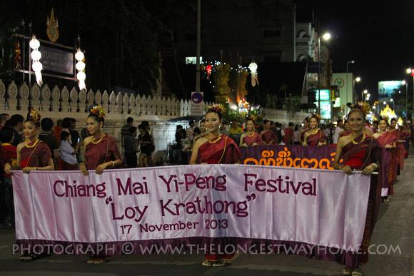 Parade starts at Loi Krathong, Chiang Mai