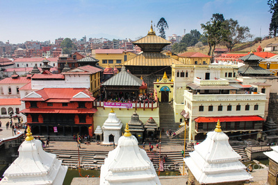 Top of the Pashupatinath Temple, Nepal