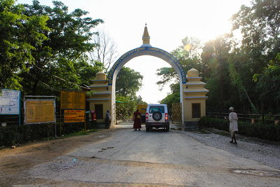 Entrance to Lumbini temple area