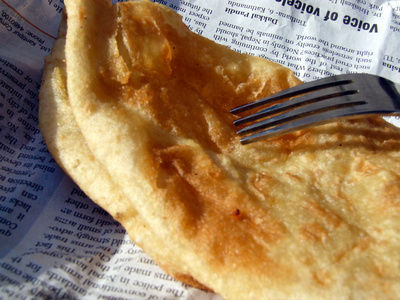 Puri unleavened flat bread found in India and Nepal