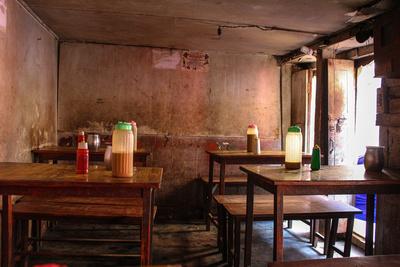 Inside a momo cafe in Nepal