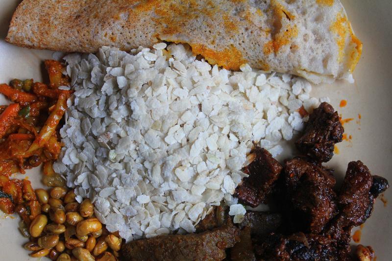 Traditional newari foods from nepal traditional newari food in nepal baji samay flattened rice chataamari chhoyla forumfinder Images