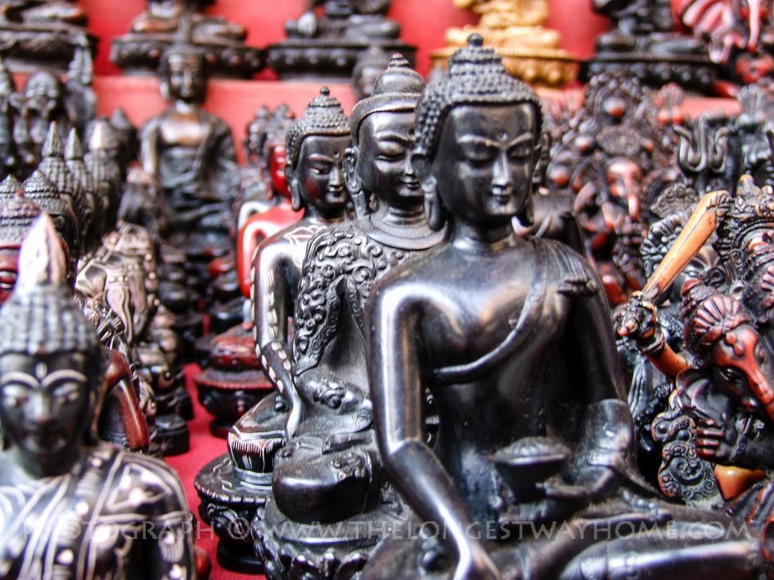Nepalese wood carvings