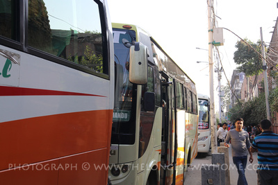 Busy buses during Dashain in Kathmandu