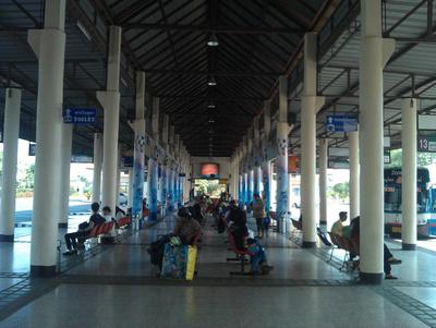 Inside Sukhothai's main bus station