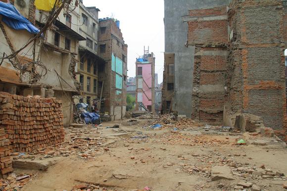 Missing buildings in Kathmandu post earthquake