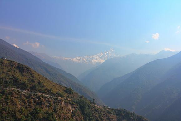 Looking back at the Mardi Himal Trek