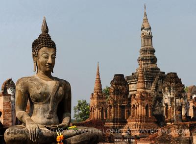 Buddha at Wat Mahathat, Sukhothai, Thailand