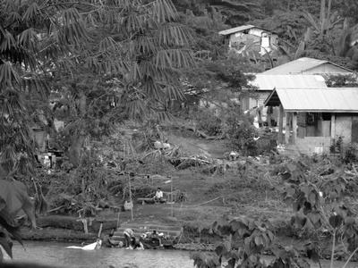 Houses destroyed in The Philippines