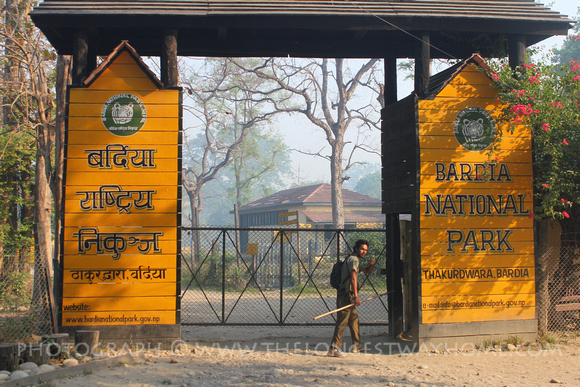 Going through the gates of Bardia National Park