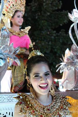 Smiling lady at Loi Krathong Parade