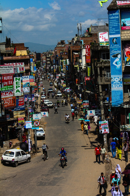 Empty road in Kathmandu